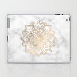 Marble Gold Mandala Design Laptop & iPad Skin