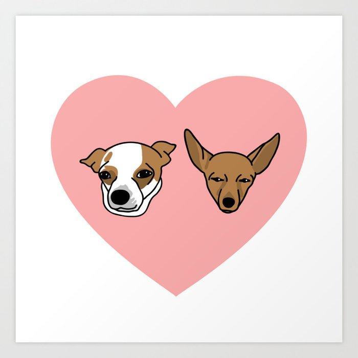 I heart Chihuahuas Art Print