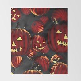 Scary Halloween Throw Blanket