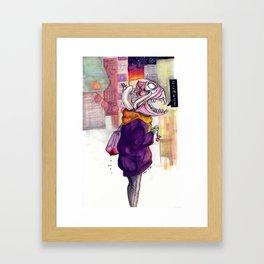 koko wa doko Framed Art Print