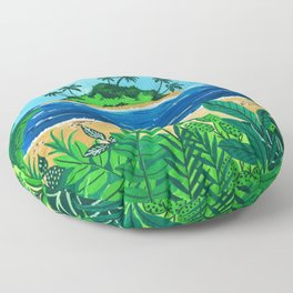 Tropical Island Floor Pillow