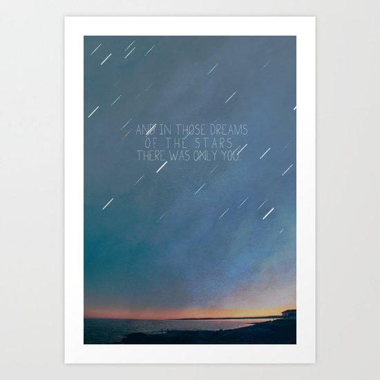 the lights of walter's dream Art Print