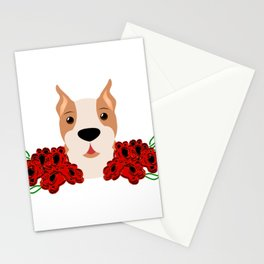 Dog Just a Girl Who Loves Boxers Stationery Cards