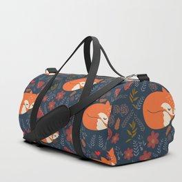 sleeping foxes Duffle Bag