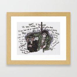 Mob and Mogami Framed Art Print