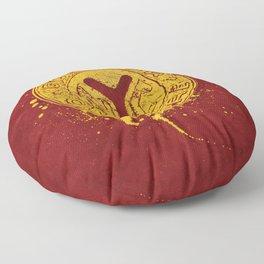 NYC Token (Red) Floor Pillow