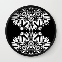 HALF BLACK AND WHITE MANDALA  Wall Clock