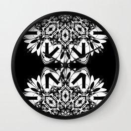 HALF BLACK AND WHITE MANDALA  Wall Clock