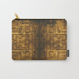 Architecture Wall of Aztec Ancestary Carry-All Pouch