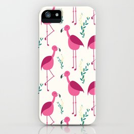 Flattering Flamingos - Pink iPhone Case