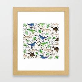 Watercolor Dinosaurs Framed Art Print