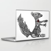 greg guillemin Laptop & iPad Skins featuring Squirrel by Greg Phillips by SquirrelSix