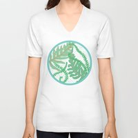 fern V-neck T-shirts featuring Fern by Allison Holdridge