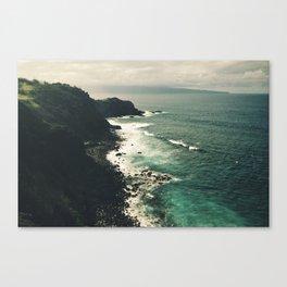 Cliffs of Maui Canvas Print