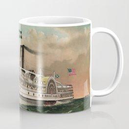 Steamer Rhode Island - Vintage Maritime Print - 1882 Coffee Mug