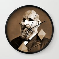 weird Wall Clocks featuring Weird by Bakus