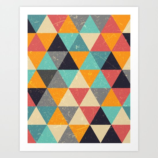 Trianglify Art Print