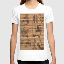 graceful Bamboo Look Custom pattern geisha samurai T-shirt