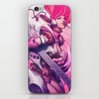 heavy metal iPhone & iPod Skins featuring Pepper Heavy Metal by Artgerm™