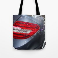 mercedes Tote Bags featuring Mercedes-Benz C 180 Coupé Sport by Mauricio Santana
