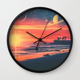 A Fax From the Beach Wall Clock