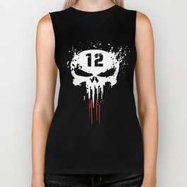 Tom Brady TB12 Punisher GOAT New Patriots Boston T-shirts Biker Tank