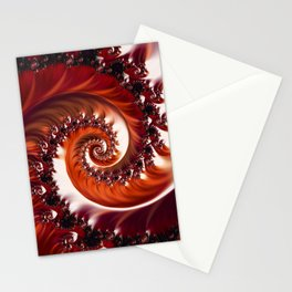 Beautiful Crimson Passion - The Heart of the Rose Fractal Stationery Cards