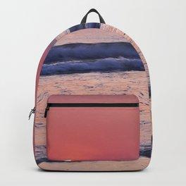 Barrosa Beach Waves At Sunset. Cadiz Backpack