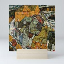"Egon Schiele ""Crescent of Houses II (Island Town)"" Mini Art Print"