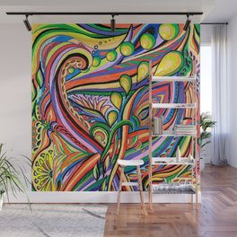Escapism - A colourful abstract piece to get lost into. Wall Mural