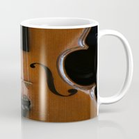 violin Mugs featuring Violin by Päivi Vikström