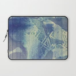 Abstraction in Blue Laptop Sleeve