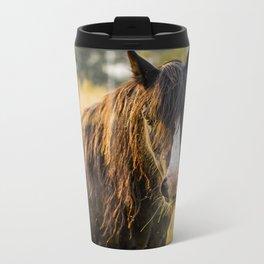 Autumn Horse Metal Travel Mug