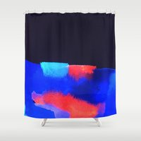 coral Shower Curtains featuring Coral by elena + stephann