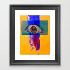 Third eye (waterfall) Framed Art Print