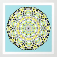 Sunny Day Spin Art Print