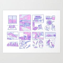Japan Travel Collection Art Print