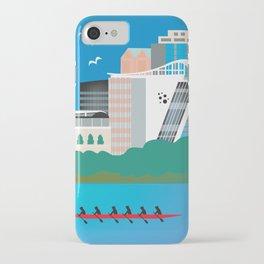 Hartford, Connecticut - Skyline Illustration by Loose Petals iPhone Case
