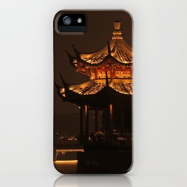 Chinese Pagoda on Lake iPhone Case