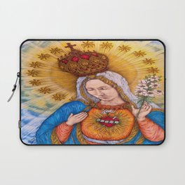 Immaculate Heart Of Virgin Mary Drawing Laptop Sleeve