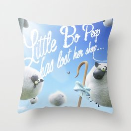 Little Bo Peep - Nursery Rhyme Inspired Art Throw Pillow