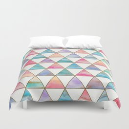 Marble Triangles Pattern Duvet Cover