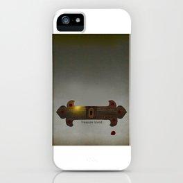 Treasure Island Minimal Poster iPhone Case