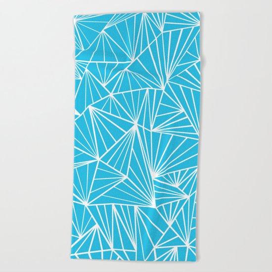 Ab Fan Electric Blue Beach Towel