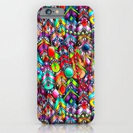 Boho feathers and gems iPhone Case