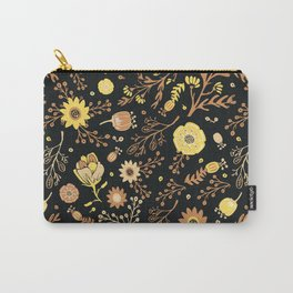 Golden Florals Carry-All Pouch