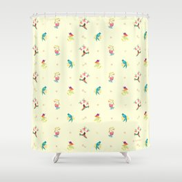 Flower and bird Shower Curtain