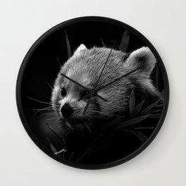 Awesome B&W red Panda Wall Clock