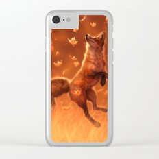 Jump Into Fall Clear iPhone Case
