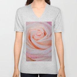 Pink Rose close up Unisex V-Neck